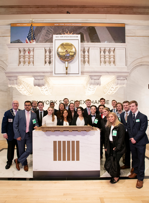Mount Saint Mary College students learned the ins and outs of the New York Stock Exchange during a recent trip to New York City. Photo: Lee Ferris.