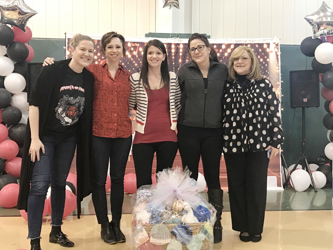 Margaret Walker, Director of Young Mothers Program; and Elizabeth Perulli Director of Meadow Run; Rachel C, client at Samaritan Daytop Village; and Jennifer P., client at Samaritan Daytop Village.