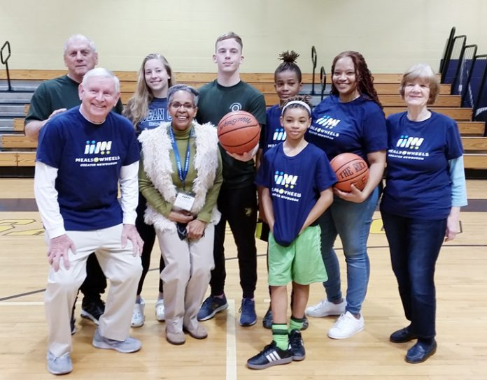 """Meals on Wheels of Greater Newburgh joined in the fun at the 3rd annual Rotary Club of Newburgh's """"Hoops & Swish Fun-Raiser"""" at NFA on March 30th."""