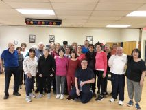Fitness Instructors Shelly Schwartz and Paula Castro with the SilverSneakers® group exercise class at Union Avenue Community Fitness Center in New Windsor.