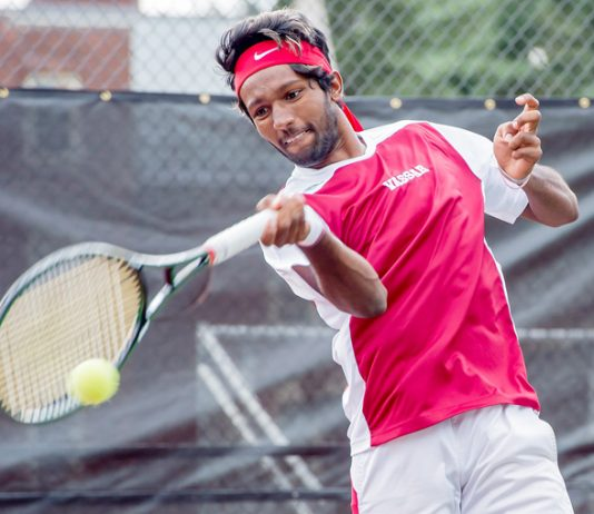 Despite the cold and rainy conditions outside, the Vassar College men's tennis team was able to play its Liberty League match against Union as scheduled on Friday afternoon at the Sportime Tennis Club's indoor courts. And the Brewers (7-5, 3-2 Liberty) were glad they could, as they handed the Dutchmen (5-3, 2-1 Liberty) their first conference loss of the season, 8-1. Photo: C. Stockton