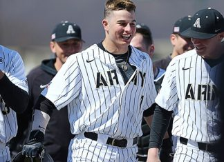 The Army West Point baseball team is heading back to the Patriot League Championship Series after a 5-3 win over Holy Cross Sunday night.