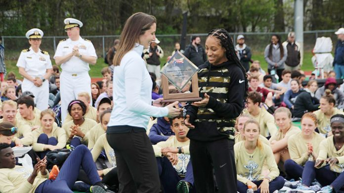 Calli McMullen was named Patriot League Women's Track Athlete of the Meet.