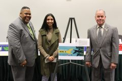 County Executive Ed Day, Commissioner of Mental Health Michael Leitzes and Rockland Community College President Dr. Michael Baston announced the winner of the Suicide Prevention Awareness Poster Contest.