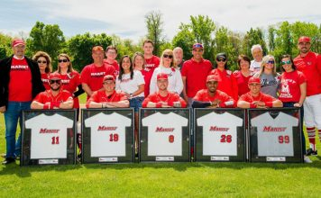 Marist baseball split the doubleheader against Siena to finish the regular season. Several seniors were also honored.