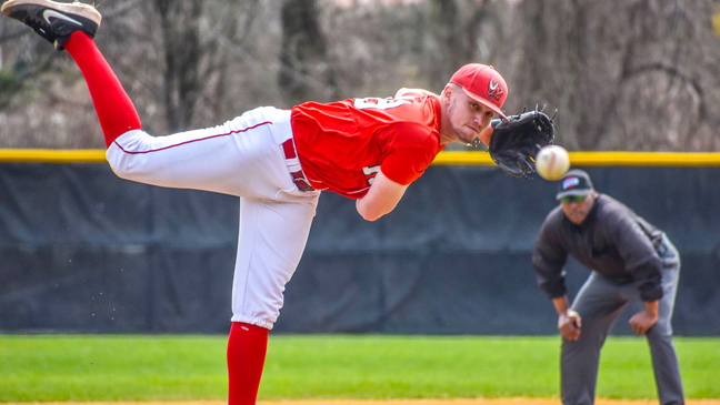 Conor McNamar on the mound for Marist.