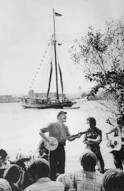 To commemorate Pete Seeger's centennial and the Hudson River Sloop Clearwater's 50th anniversary this month, both houses of the NYS Legislature are adopting a resolution honoring their achievements. Photo: Associated Press
