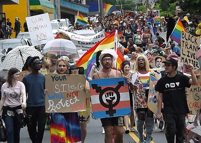 Raindrops didn't deter the thousands of participants and spectators, who converged on downtown New Paltz Sunday afternoon to celebrate in the 15th annual Hudson Valley LGBTQ Pride Parade & Festival.
