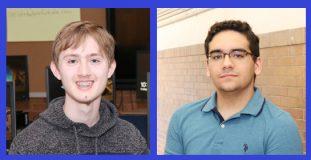 NFA Co-Valedictorians Matthew Stridiron and Martin Peticco.