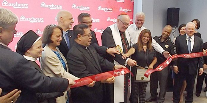 Archbishop of New York, Cardinal Timothy Dolan, visited the Kingston area Monday afternoon, to celebrate the local opening of ArchCare, the continuing care community for the 10-county Roman Catholic Archdiocese of New York.