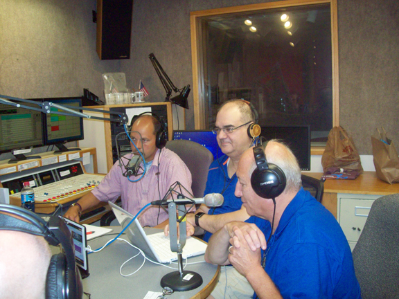 From right are Carl Garofolo Jr, Tony Navarro and Carl Lindberg. The trio makes up the crew of announcers of Hudson Valley Sports Talk, heard on WHVW 950- along with four other signals- on Sunday mornings from 10-11. The informative and entertaining Show, recently celebrated its 25th year on the airwaves, a huge milestone in the radio business.