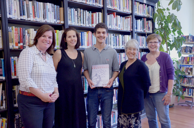 Left to right: Safe Harbors of the Hudson Executive Director, Lisa Silverstone, Author Danielle Trussoni, NFA Honor Student, Steven Baltsas and Safe Harbors of the Hudson Board Members Dr. Hannah Brooks and Virginia McCurdy.