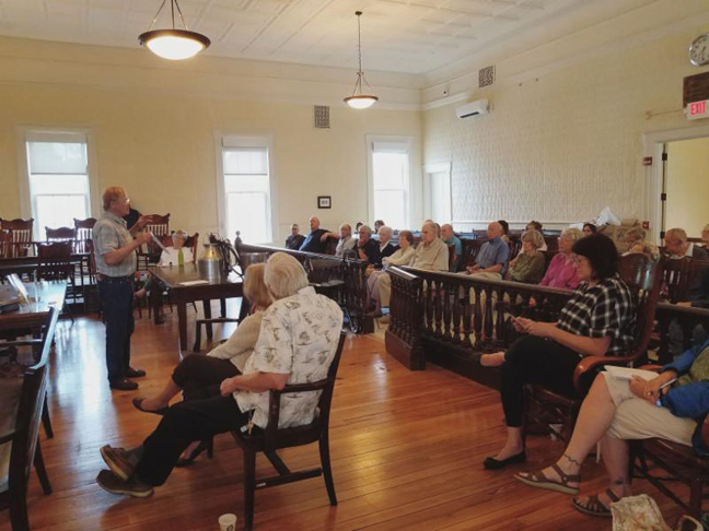 In 1870, Orange County had a thriving dairy industry with over 4,000 working farms. Today, only 37 remain. Of the statistics that Jim Baird shared at the Summer Speaker Series held at Goshen's 1871 Courthouse on Main Street, that was the one which caused the most pause.
