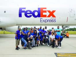United Way of the Dutchess-Orange Region's first-ever Pull the Plane raised almost $50,000 June 29 with hundreds pulling a FedEx 757 at New York Stewart International Airport. Photo: UWDOR