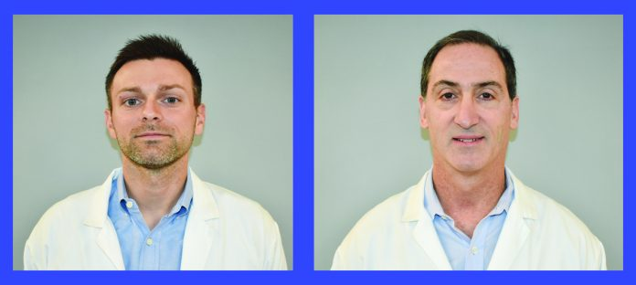 Bryan Georgiana PA and Robert Feldman, MD, FACS.