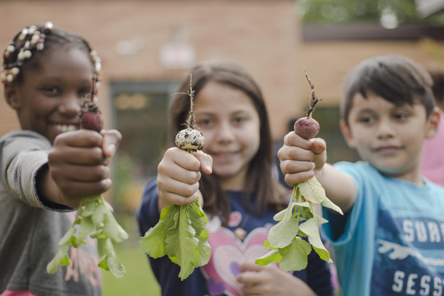 Hudson Valley Seed provided garden learning for students at Newburgh elementary schools with the help of their funding from the Make a Difference Grant in 2018.