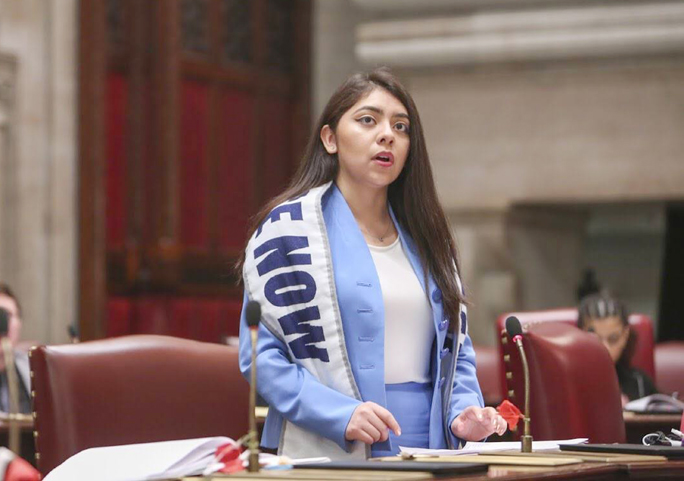 Giselle Martinez of Newburgh, N.Y. recently completed an internship as a session assistant for Senator Jessica Ramos (D), Senate District 13.