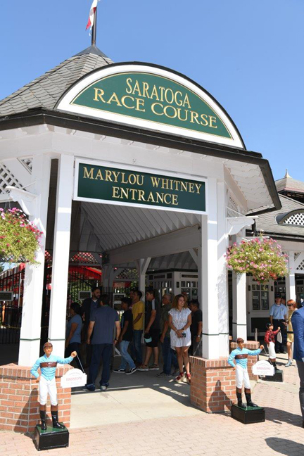 Saratoga Race Course Marylou Whitney Entrance. Photo: Chris Rucker