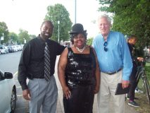 "Ulysee Huling of Independent Health Insurance (a strong supporter of the Newburgh Jazz Series), Aquanetta Wright (""The Ferry Godmother), and ""Chuck,"" (also a steadfast supporter of the Series.), which returns to Unico Park at the Newburgh Waterfront, its original setting, this season for a series of concerts throughout the month of August."