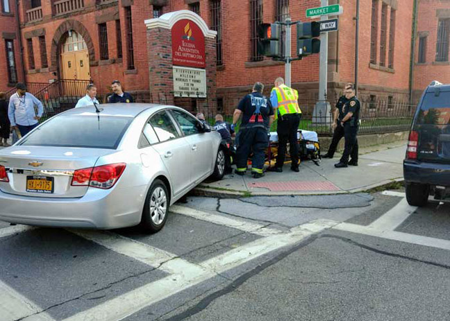 A rush hour traffic accident sent two people to local hospitals and snarled traffic in Poughkeepsie on Monday, Agust 5.