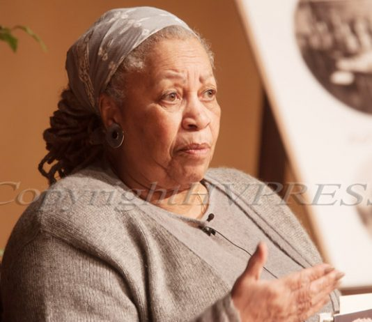 """Nobel- and Pulitzer-prize winning author Toni Morrison spoke during a reading of her novel """"Home"""" on Friday, March 22, 2013 at the United States Military Academy in West Point, NY. Hudson Valley Press File/CHUCK STEWART, JR."""