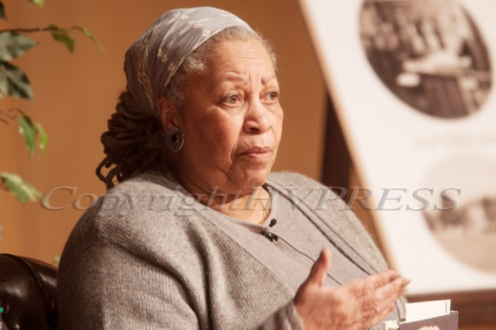 Nobel- and Pulitzer-prize winning author Toni Morrison spoke during a reading of her novel