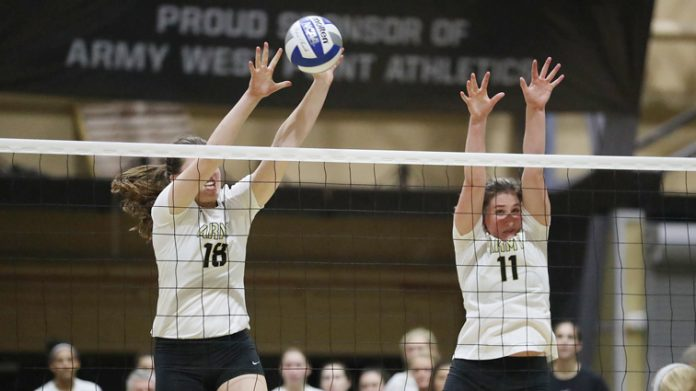 The Army West Point volleyball team (8-4) split its Saturday doubleheader to finish 2-1 at the Bulldogs Invitational at Yale.