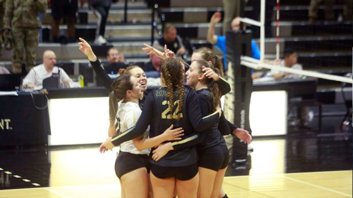 The Army West Point volleyball team won both of its matches on Saturday to claim a sweep of the Black Knights Invitational at Gillis Field House.