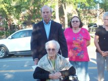 """Former Mayor of the City of Beacon, Clara Lou Gould, turned 92 last Thursday and was honored at a special dedication outside of City Hall with both a plaque and a bench bearing her name as well as the official declaration of August 29 being dubbed """"Clara Gould Day."""""""