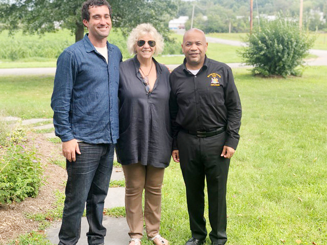 Speaker Heastie at Hudson Hemp with, from left to right, Hudson Hemp CEO Benjamin Banks-Dobson and Assemblymember Didi Barrett.