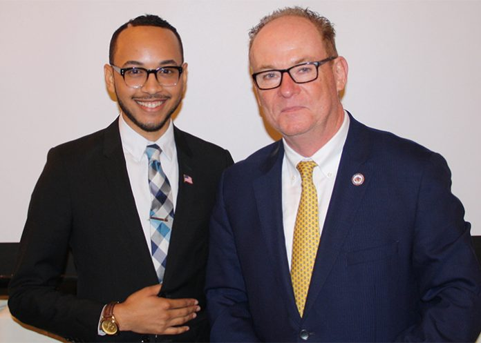 Republican Poughkeepsie Mayor Robert Rolison (right) and his Democratic challenger, Joash Ward (left), discussed the issues facing the city with members of the Dutchess County Regional Chamber of Commerce on Wednesday, as they vie for the top job in the general election.