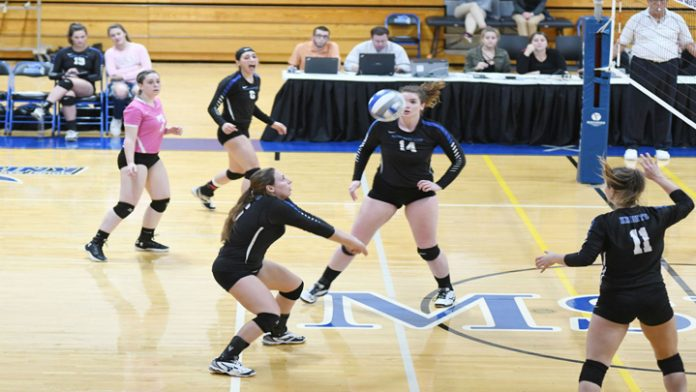 Mount Sophomore Alyssa Barbara lifted a team-high 11 digs to go along with six assists and a block.