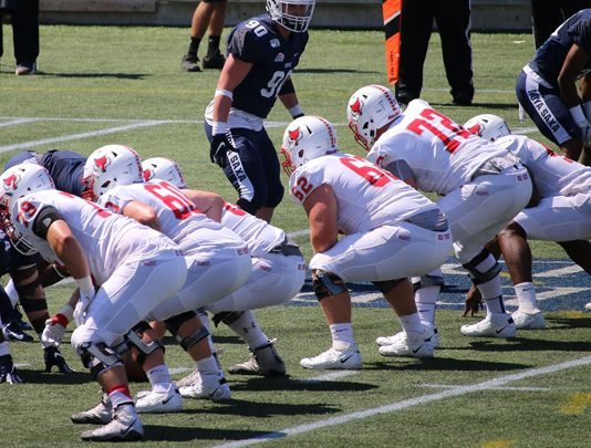 The Marist football team was defeated at Georgetown by a score of 43-3 in its season opener on Saturday afternoon at Cooper Field.