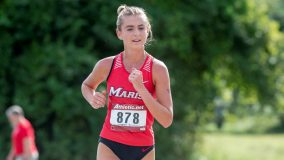 Alexandra Bartolotta guided the Red Foxes to victory with a runner-up individual finish.
