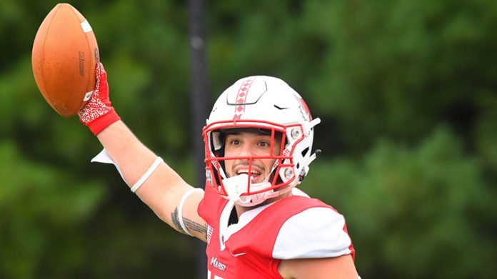 The Marist football team earned a 26-23 victory over Stetson in its home and Pioneer Football League openers on Saturday.