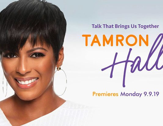 The Tamron Hall Show debuted on Monday. Check local listings for channel and time information.