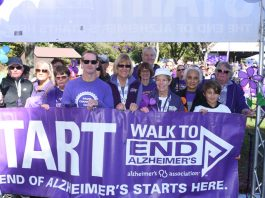 More than 450 people turned out for the Orange/Sullivan Walk to End Alzheimer's at Thomas Bull Memorial Park in Montgomery on Saturday, Oct. 5.
