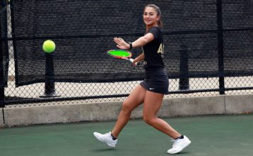 The Black Knights finished up play at their host tournament Sunday, with Paola Bou and Sophie McKenzie capturing the B doubles final with a 6-1 win over Abby Warner and Sydney Fitch of Air Force.