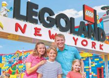Computer generated image of what the entrance to Legoland will look like.