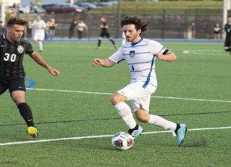 Led by a three-goal, seven point performance from Joey Dolan, the Mount Saint Mary College Men's Soccer team scored a convincing 6-0 home win over St. Joseph's-Brooklyn at Kaplan Field Saturday afternoon.