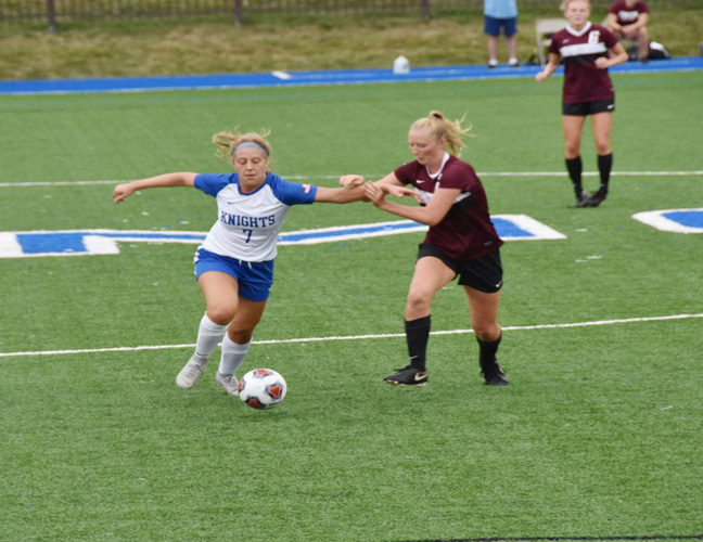 Nicky Wurglics scored one of the two goals for Mount Saint Mary College that led to the victory.