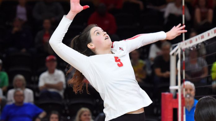 The Marist volleyball team defeated the Metro Atlantic Athletic Conference leading Rider 3-2 on Sunday afternoon.