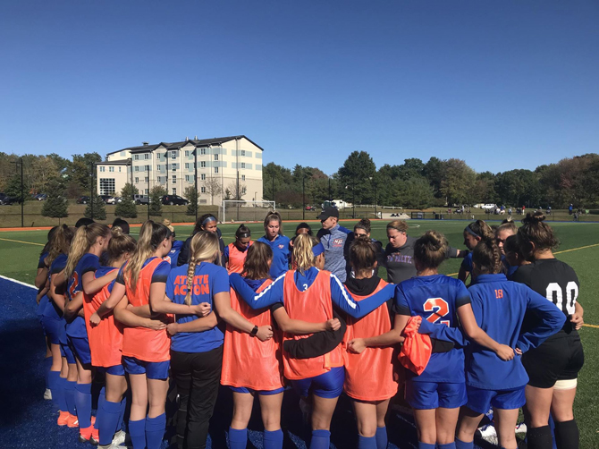 Playing in its second overtime game of the weekend, the State University of New York New Paltz women's soccer team tied Fredonia State, 2-2 on Saturday at South Turf Field.