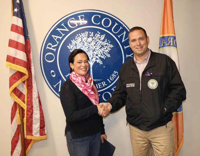 Orange County Executive Steven M. Neuhaus has named Karla Knight as October's Citizen of the Month Award winner. Diagnosed with breast cancer last year, Knight is an advocate for awareness about the disease.