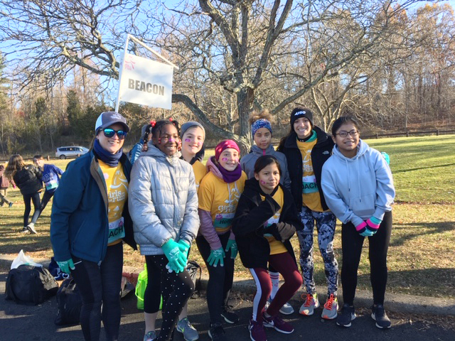 Beacon Rombout Middle School Girls on the Run team was among a large gathering of area schools on hand at the organization's annual winter 5k run, held at Rockland Park Saturday morning.