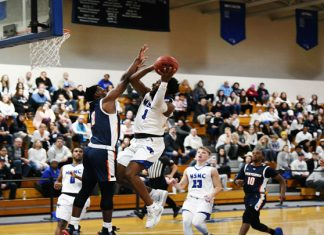 The Mount Saint Mary College Men's Basketball team suffered a 76-65 home loss on Friday to visiting Cobleskill. Senior Kendall Francis led a balanced scoring attack with a team-high 17 points.