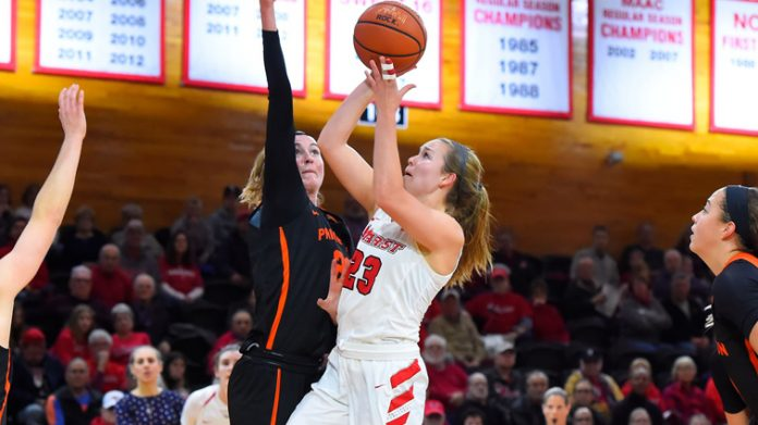 Senior captain Rebekah Hand dropped 18 points, and redshirt senior captain Alana Gilmer added a double-double, but Princeton pulled away in the fourth quarter for a 62-50 decision over Marist on Saturday evening at McCann Arena.