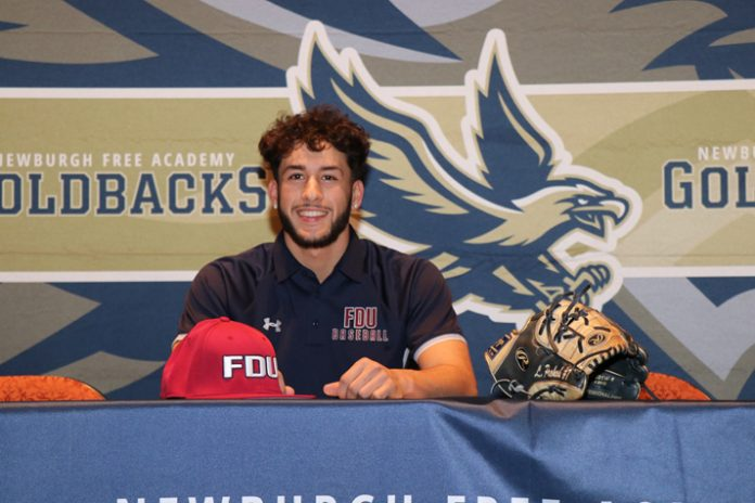 Lucas Prokosch, senior at Newburgh Free Academy Main Campus recently signed a national letter of intent to play Division I Baseball at Farleigh Dickinson University.