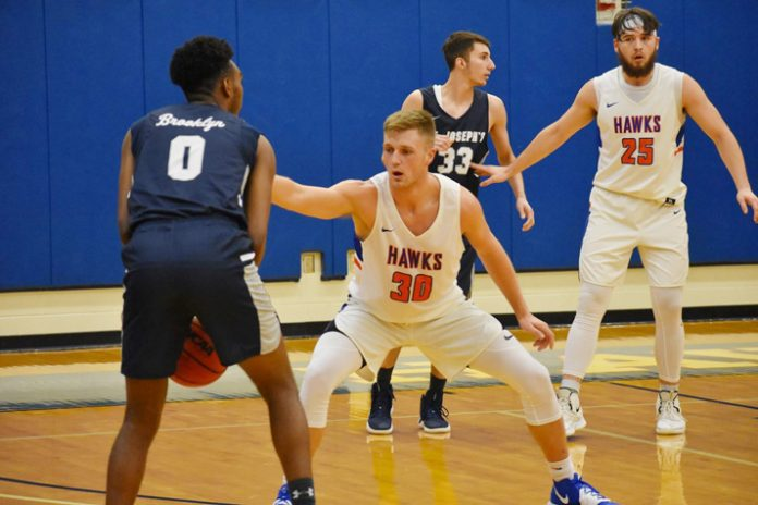 The State University of New York at New Paltz put an end to a three-game losing streak Tuesday after claiming a 67-61 win over visiting St. Joseph's-Brooklyn in the Hawk Center.