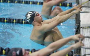 The Army West Point men's swimming and diving team began 2020 with a 220-79 victory over Bucknell in a Patriot League dual on Saturday night.